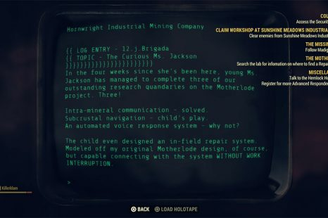 Fallout 76 – Motherlode Information On Repair Beacon Guide