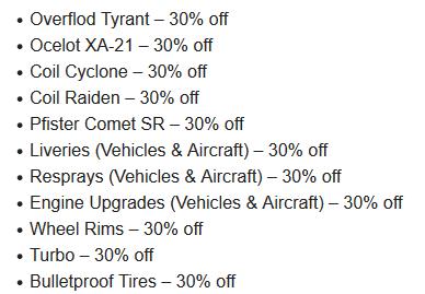 GTA Online High End Vehicle Discounts - Gamers Heroes
