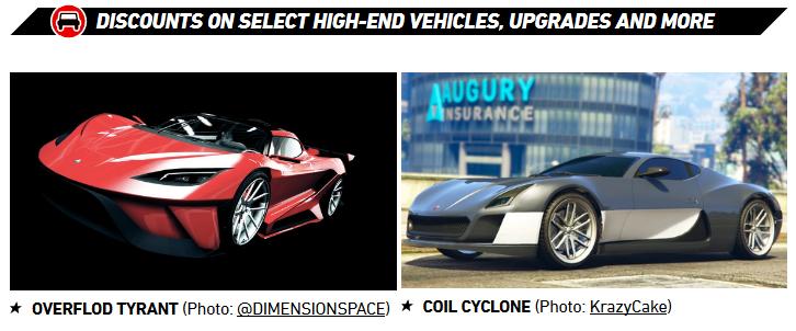 GTA Online Vehicle Discounts - Gamers Heroes