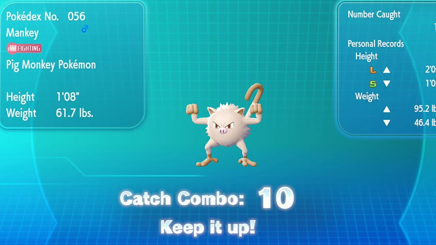 How To Increase Catch Combo And What Does It Do In Pokemon Let's Go