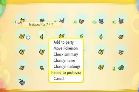 How To Release Pokemon In Pokemon Let's Go