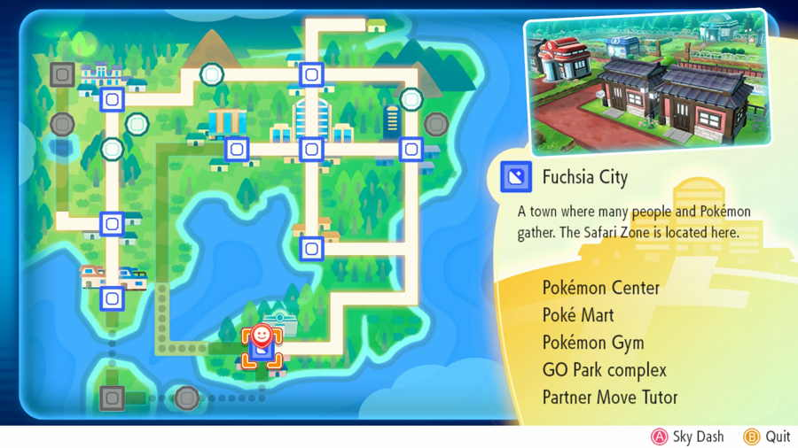 Pokemon Lets Go Fuchsia City