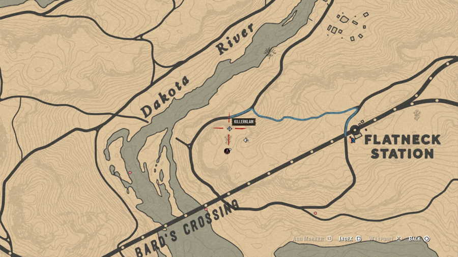 Red Dead Online Bard's Crossing Treasure Location 1 2