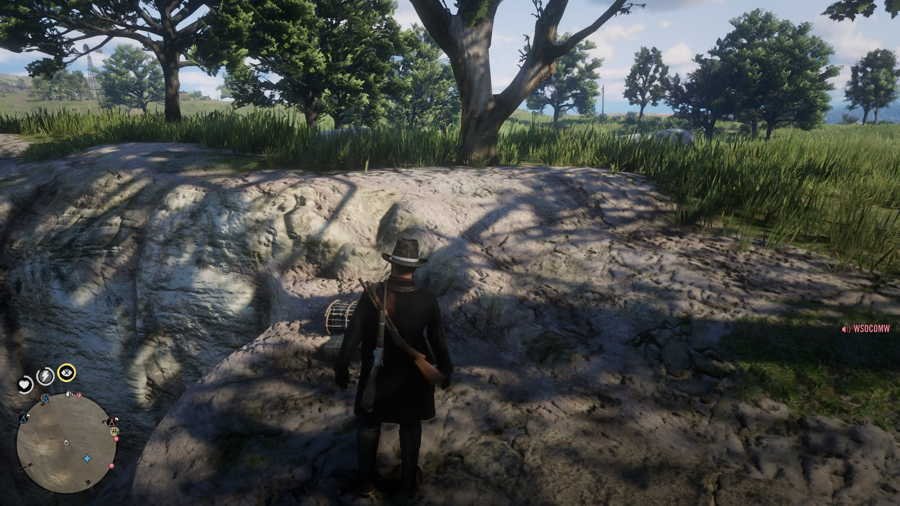 Red Dead Online Bard's Crossing Treasure Location 1