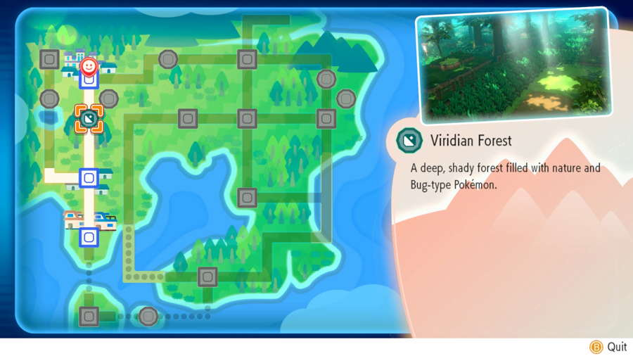 Viridian Forest Pokemon Let's Go