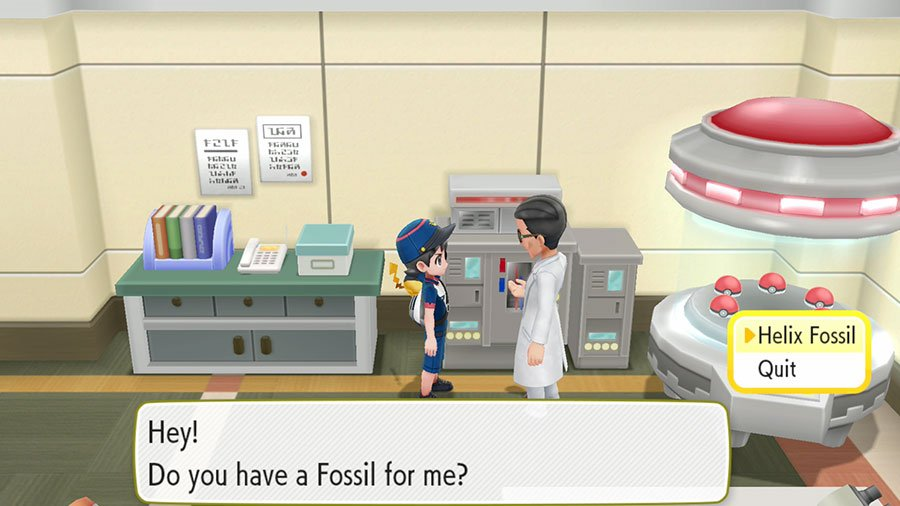 What To Do With Dome Fossil & Helix Fossil In Pokemon Let's Go