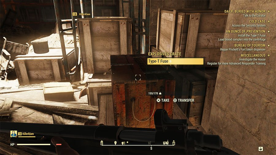 Where To Find Type-T Fuse In Fallout 76
