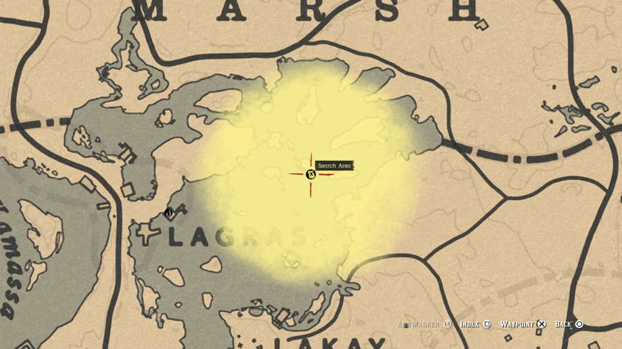Red Dead Online Bluewater Marsh Treasure Map Guide