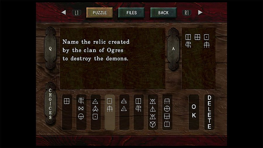 Question Box 2 Name The Relic Created By The Clan Of Ogres To Destroy The Demons