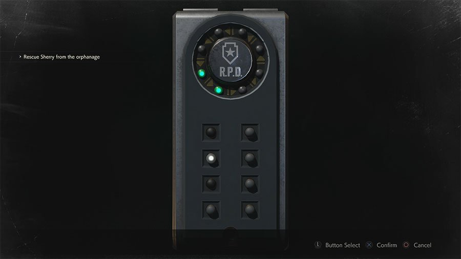 Resident Evil 2 Portable Safe Combination Guide Arrows