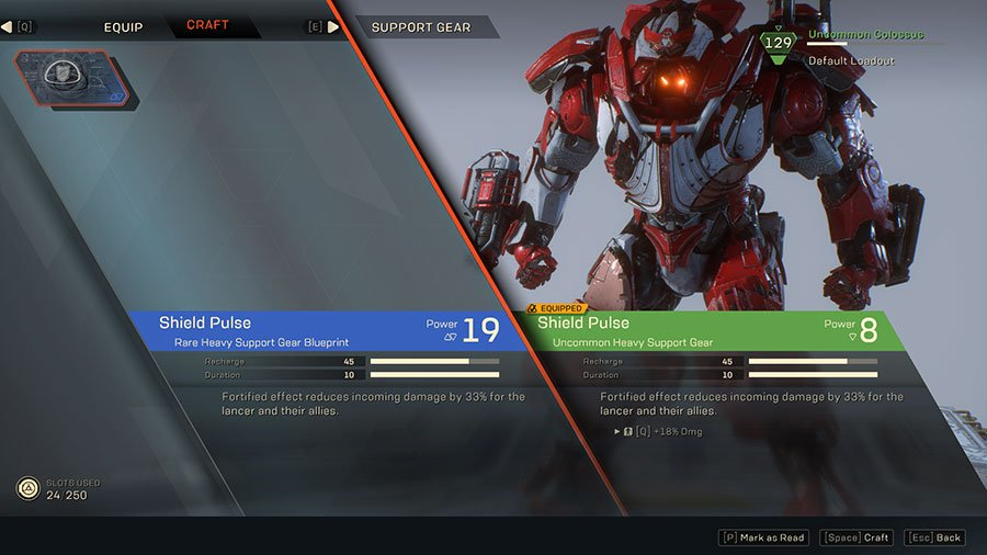 How To Craft Better Weapons & Items In Anthem