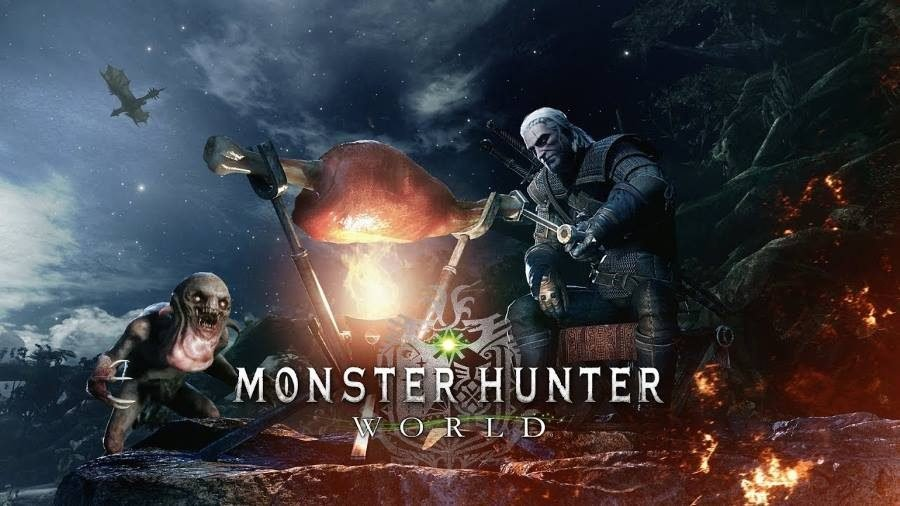 Monster Hunter World The Witcher 3 - Gamers Heroes