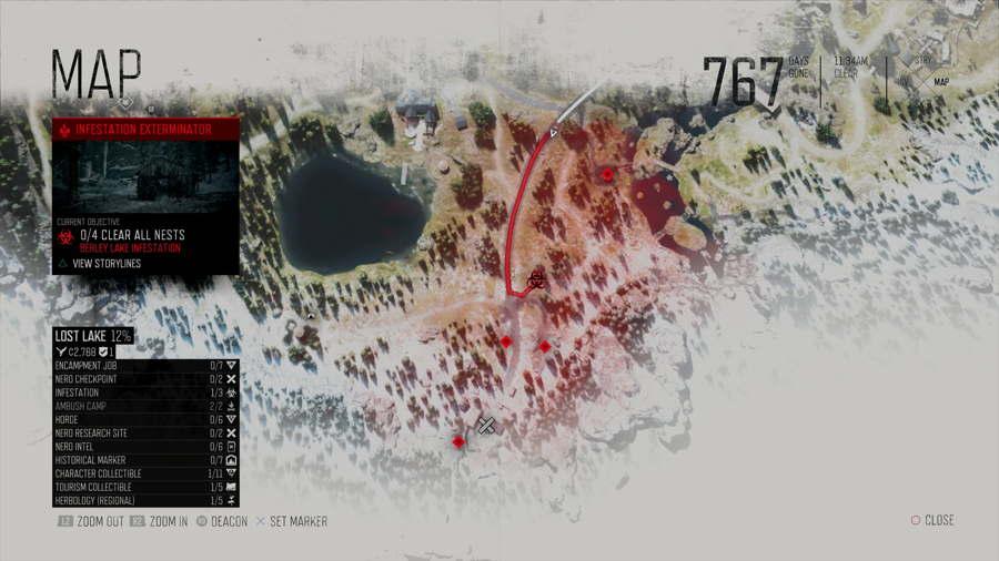 Berley Lake Infestation Nest Location Days Gone