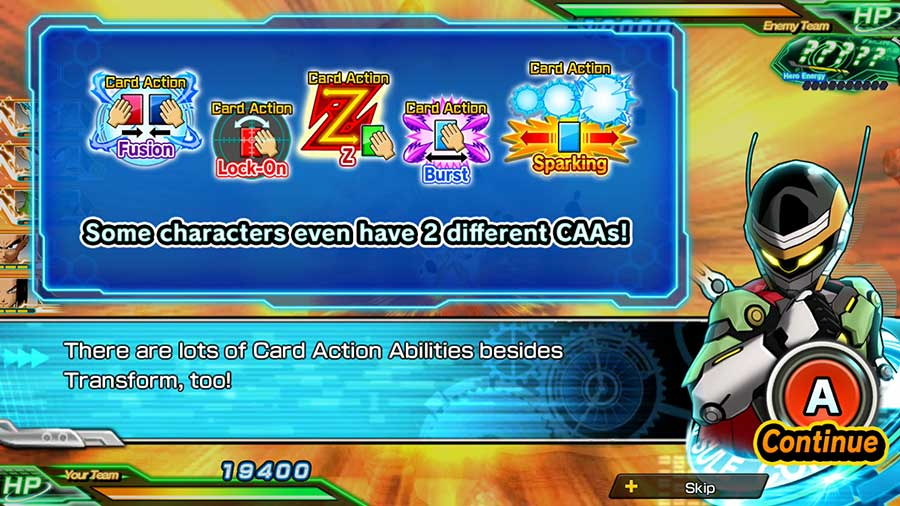 Card Action Abilities Guide