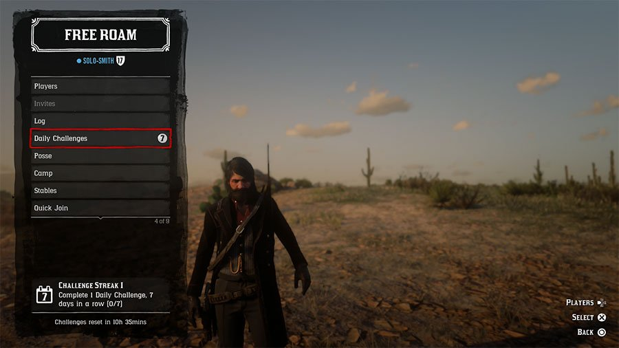 Where To Find Daily Challenges In Red Dead Online