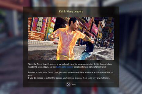 Judgment Threat Level & Keihin Gang Leaders Guide