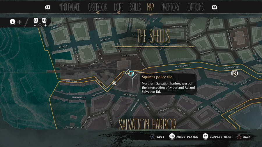 Squints hideout The Sinking CIty