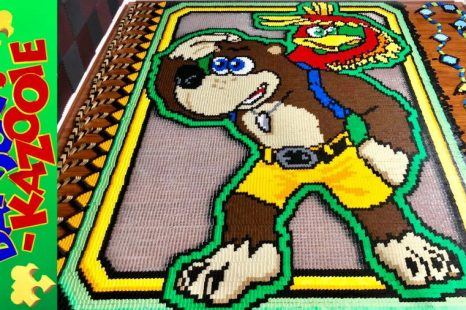 Banjo-Kazooie Recreated in 43,203 Dominoes