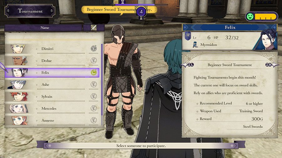 Fire Emblem Three Houses Tournaments Guide Character