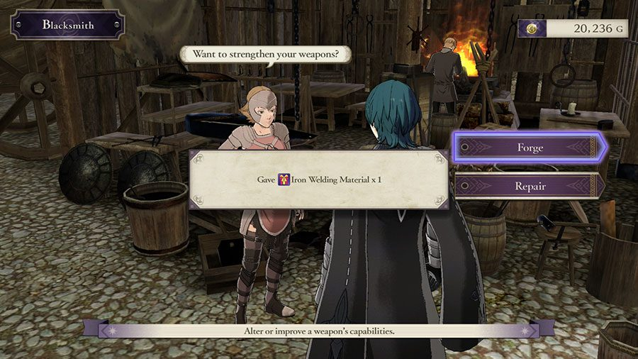 How To Repair Weapons In Fire Emblem Three Houses