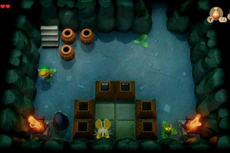 How To Get The Boss Key In The Bottle Grotto Dungeon In Zelda Link's Awakening