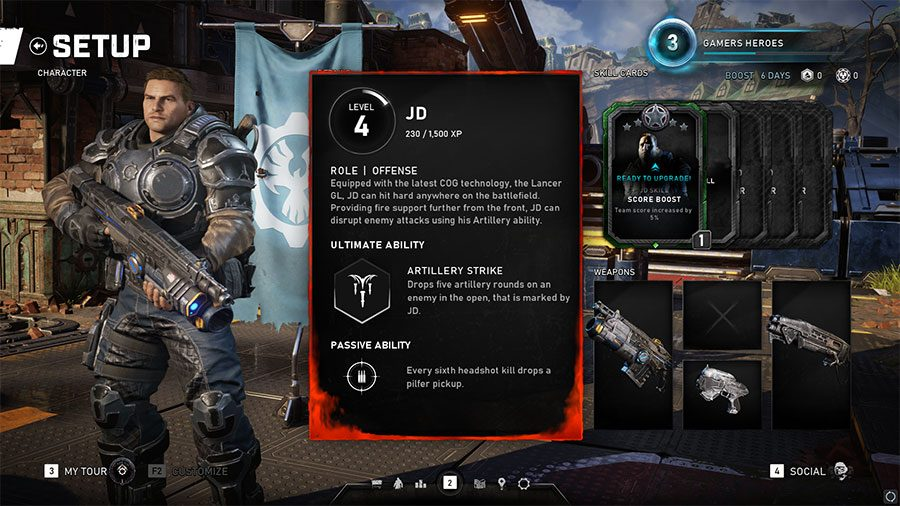 How To Use JD Artillery Strike In Gears 5