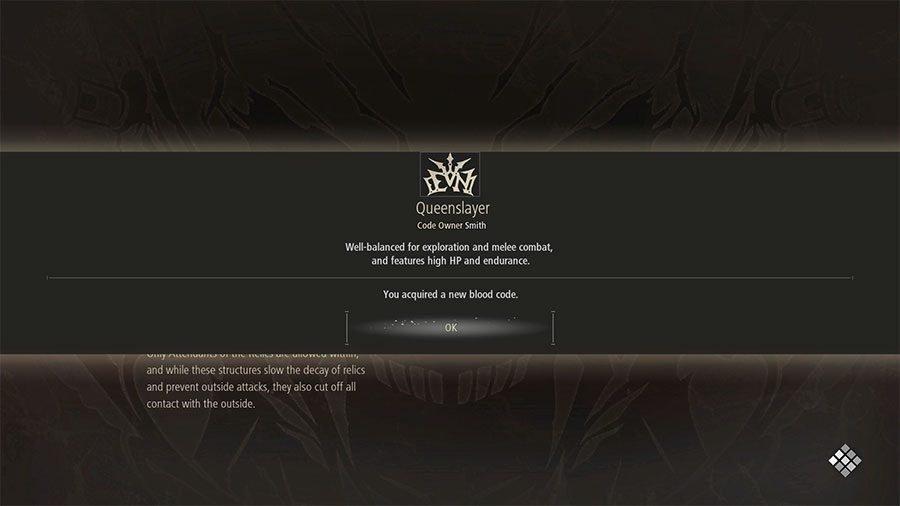 Queenslayer Blood Code