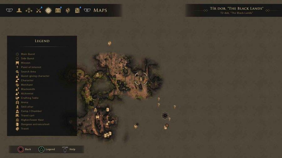 Tir Dob, The Black Lands