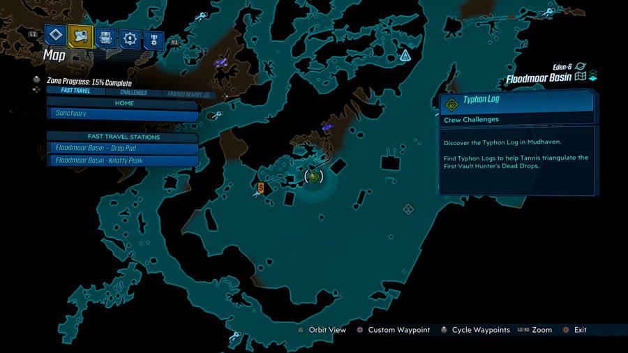 Typhon Log 1 Borderlands 3