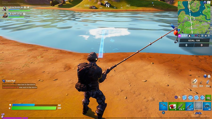 How To Catch Weapons With Fishing Rod In Fortnite