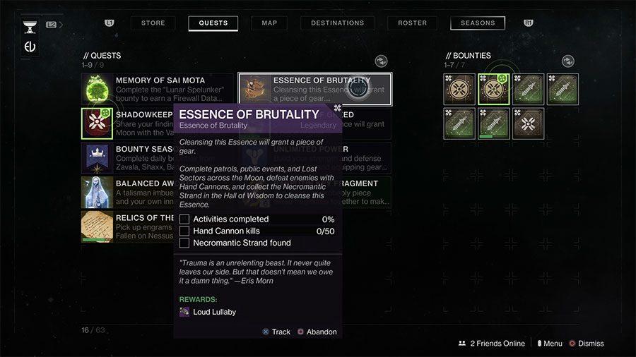 Where To Find Necromantic Strand In Destiny 2