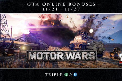 Triple Rewards in GTA Online's Motor Wars This Week