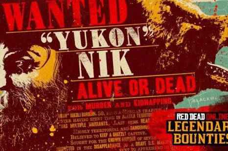 """Legendary Bounty """"Yukon"""" Nikoli Borodin Now in Red Dead Online"""