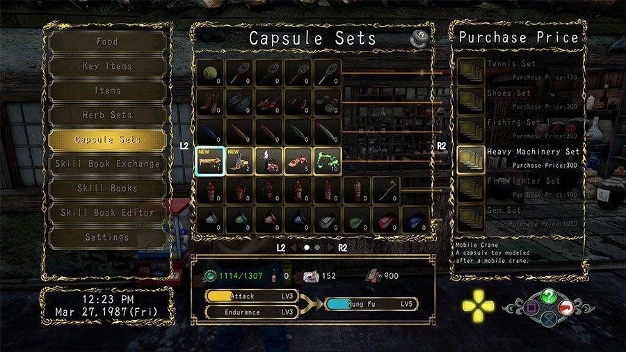 Shenmue 3 Capsule Set Guide - Forklifts Set