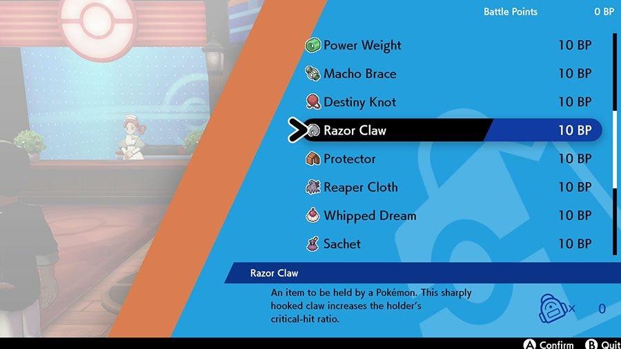 Where To Find Razor Claw In Pokemon Sword & Shield