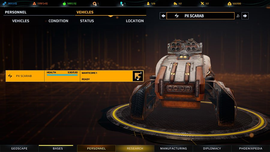 How To Use Vehicles In Phoenix Point