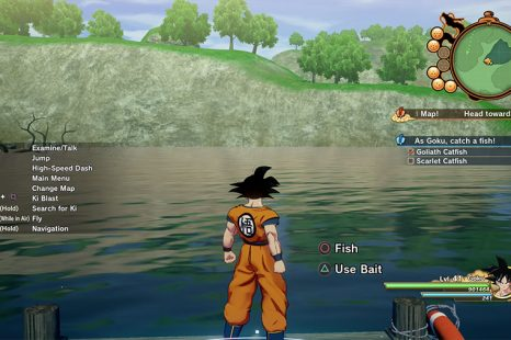 Where To Find The Goliath & Scarlet Catfish In Dragon Ball Z: Kakarot