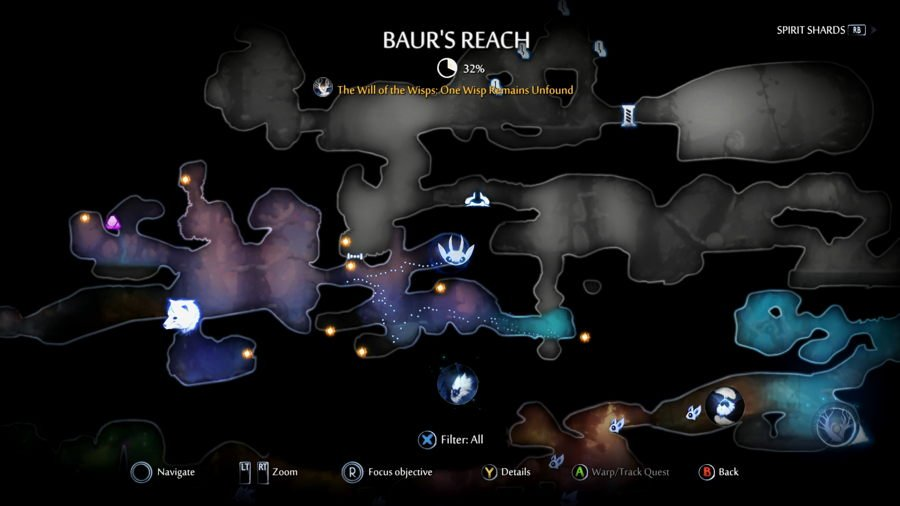 Baurs Reach Map Ori And The Will Of The Wisps