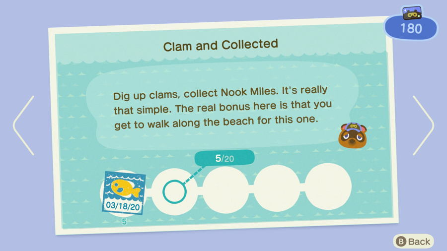 Clam and collected Animal Crossing New Horizons