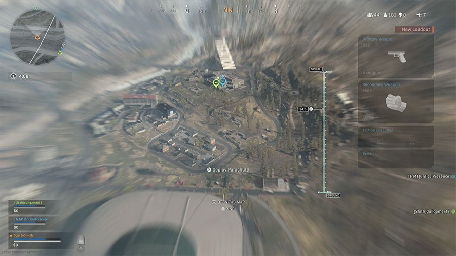 How To Descend Faster With Parachute In Call Of Duty Warzone
