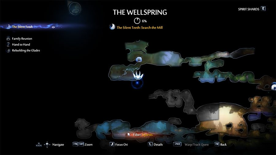 Energy Cell Fragment Location #1 Wellspring Glade