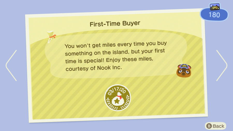 First Time Buyer Animal Crossing New Horizons