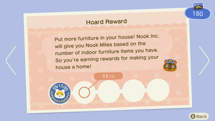 Hoard reward Animal Crossing New Horizons