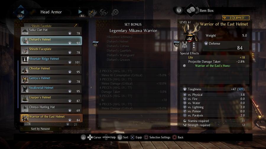 Legendary Mikawa Warrior Set Nioh 2