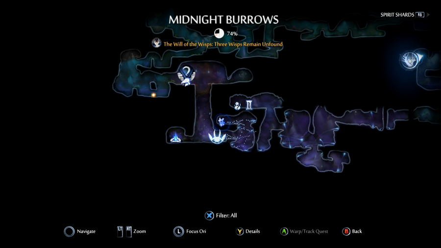 Midnight Burrows Map Location ori and the will of the wisps