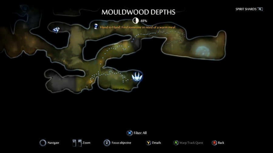 Mouldwood Depths map location ori and the will of the wisps