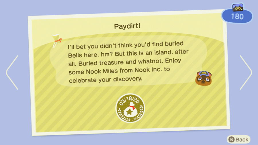 Paydirt Animal Crossing New Horizons
