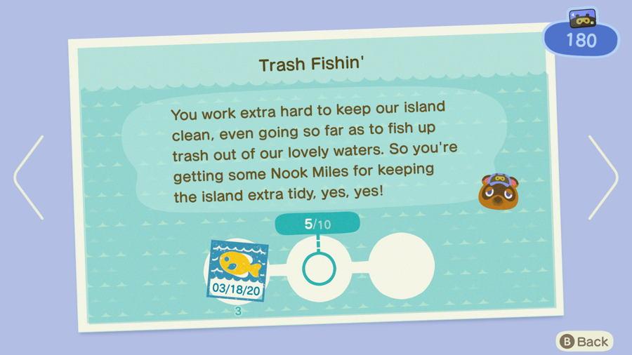 Trash fishin Animal Crossing New Horizons