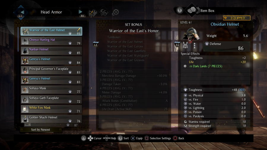 Warrior Of The East Set Nioh 2