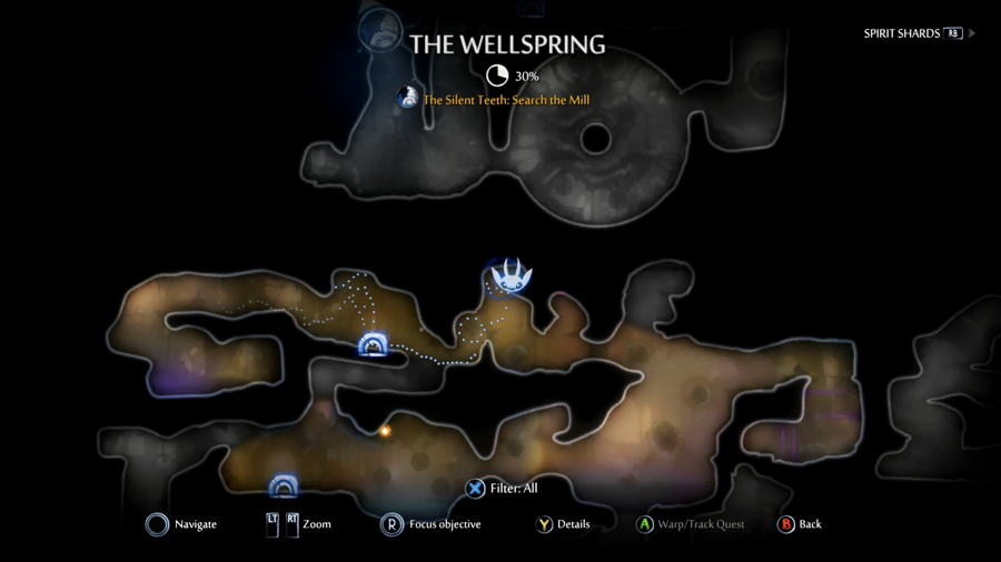 Wellspring Map Ori And The Will Of The Wisps